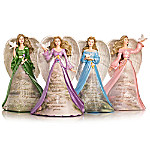 Thomas Kinkade Angels Of Peace Hand-Painted Figurine Collection