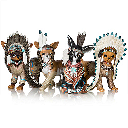 Feathers 'N Fur Chihuahua Handcrafted Figurine Collection
