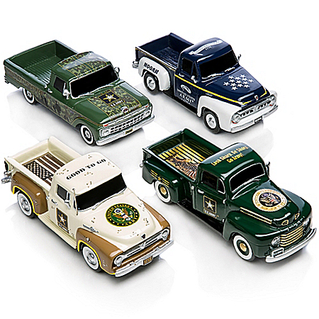 Driven To Victory ARMY 1:36-Scale Ford Truck Sculpture Collection
