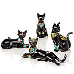 Blake Jensen Egyptian Treasures Of Purr-fection Handcrafted Cat Figurine Collection