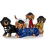 Elvis Paw-esley Handcrafted Dachshund Figurine Collection