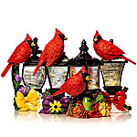 Thomas Kinkade Forever In My Heart Sculpted Cardinal Lantern Collection
