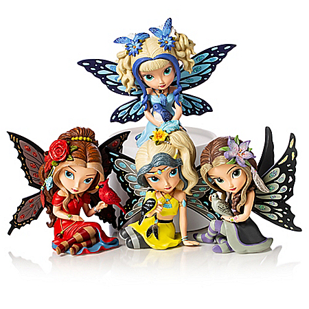 Jasmine Becket-Griffith Fairy and Songbird Figurines