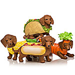 Bone Appetit Hand-Painted Dachshund Figurine Collection