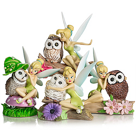 Disney Tinker Bell Collectible Owl Figurines from Hamilton Collection