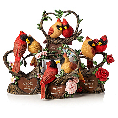 Always In My Heart Hand-Painted Songbird Figurine Collection