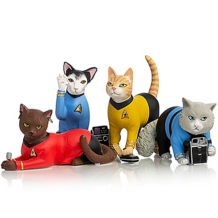 STAR TREK Space Cat Crusaders Hand-Painted Figurine