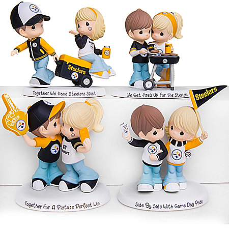 Precious Moments Steelers Pride Figurine Collection