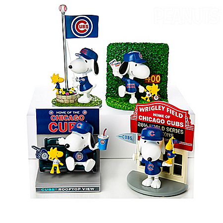 PEANUTS Snoopy Chicago Cubs Fan-itude Figurine Collection