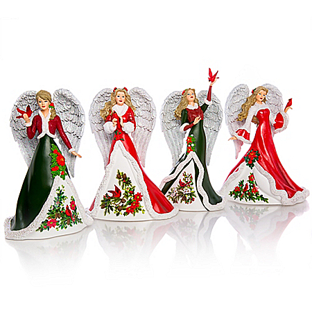 Angels Of Comfort And Joy Hand-Painted Figurine