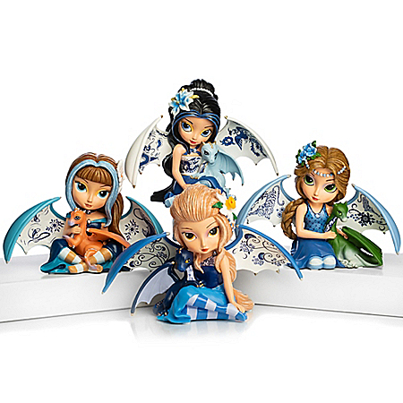 Jasmine Becket-Griffith Blue Willow Beauty Fairy Figurine Collection