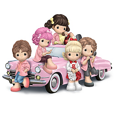 Precious Moments Grease Pink Ladies Figurine Collection