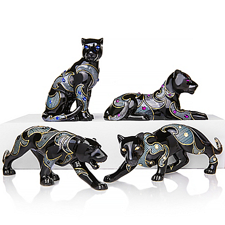 Keith Mallett Virtuous Black Panther Figurine Collection