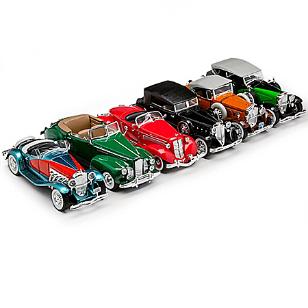 1:32-Scale Classic Era Luxury Diecast Car Collection