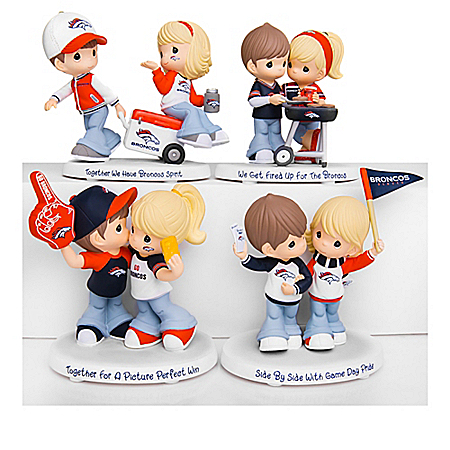 Precious Moments Broncos Pride Figurine Collection