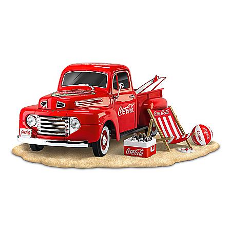 COCA-COLA Refreshing Taste Of Summer Ford Truck Sculptures