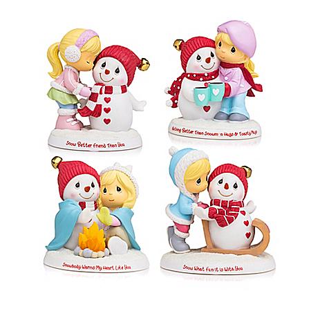 Precious Moments Snow Buddies Snowman Figurine Collection
