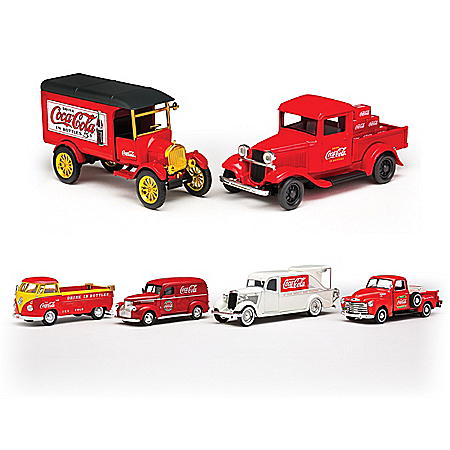 COCA-COLA 1:43-Scale Diecast Vehicles From Different Eras