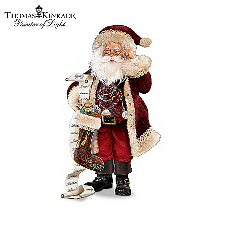 Thomas Kinkade So Real Santa Figurine Collection