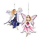 Garden Jewel Fairies Ornament Collection: Collectible Fairy Christmas Ornaments