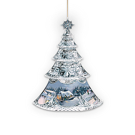 Thomas Kinkade Crystal Holidays Handcrafted Ornament Collection