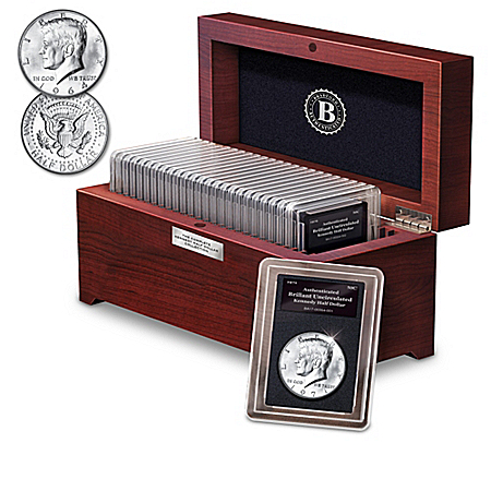 The Golden 50th Anniversary Complete Kennedy Silver Half Dollar Coin Collection