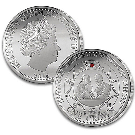 The Royal Silver Crown Coin Collection: Prince George First Birthday