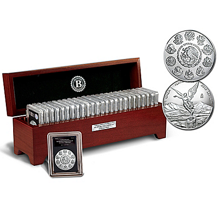 The Complete 99.9% One Oz. Silver Libertad Bullion Coin Collection