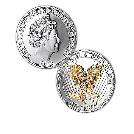 Angel Coins: The Strength Of Our Faith Archangel Silver Crown Coin Collection