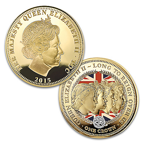 The Crowning Moments Of Queen Elizabeth II Golden Crown Coin Collection