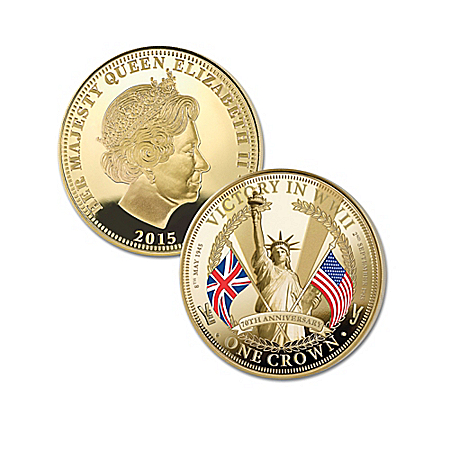 The 70th Anniversary Of WWII Victory Golden Crown Coin Collection