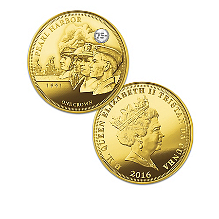 75th Anniversary of United States Entrance in WWII Golden Crown Coin Collection