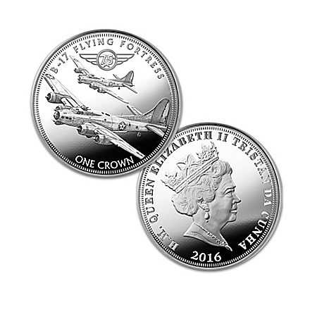75th Anniversary WWII Bombers Silver Crown Coin Collection: 1 of 1941