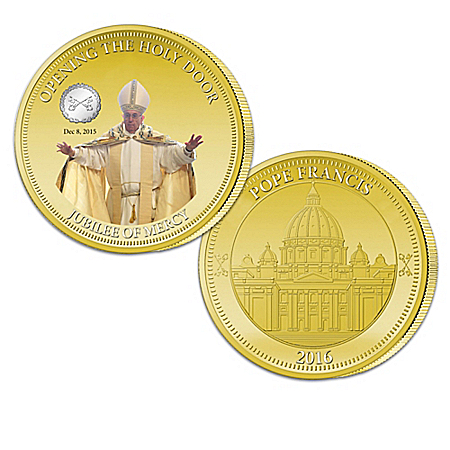 Pope Francis Jubilee Of Mercy Golden Proof Coin Collection