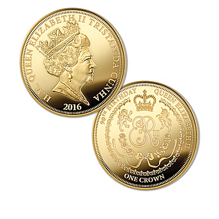 The Queen Elizabeth II Celebration 24K Gold-Plated Coin Collection