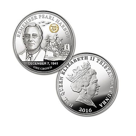The 75th Anniversary Heroes Of Pearl Harbor Silver Crown Coin Collection