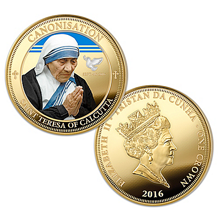 The Mother Teresa Legacy 24K Gold-Plated Coin Collection