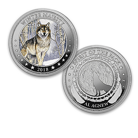 Al Agnew Wolf Art Silver Plated Legal Tender Coin Collection: 1 of 2500