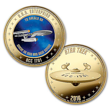 The STAR TREK U.S.S. Enterprise 50th Anniversary Legacy Proof Coin Collection