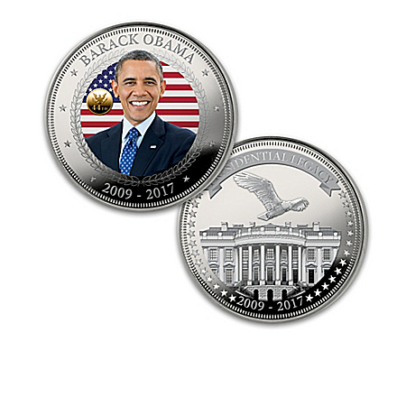 The President Obama Legacy Silver Proof Coin Collection with Display