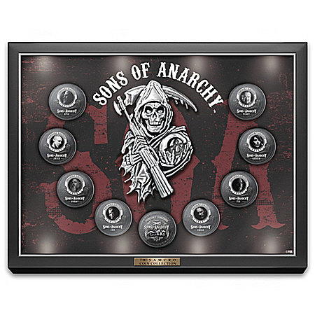 The Official Sons Of Anarchy Coin Collection With LIT Glass Display Case