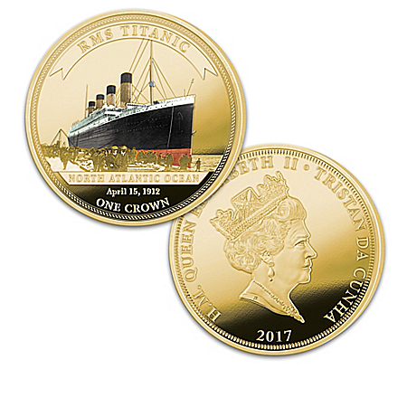 Legendary Shipwrecks Legal Tender Golden Crown Coin Collection: 1 of 2000
