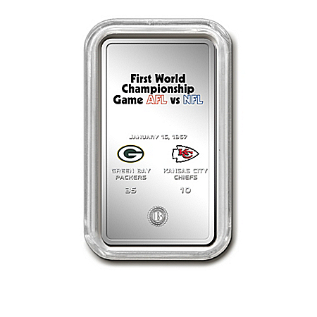 Complete NFL Super Bowl Silver Plated Ingot Collection With Display: 1 of 5000