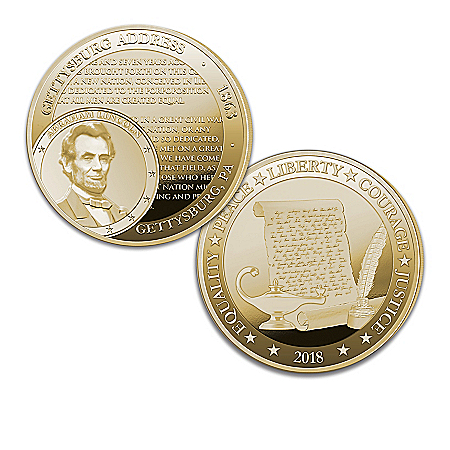 The World's Greatest Speeches 24K Gold-Plated Proof Coin Collection