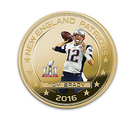 New England Patriots NFL Super Bowl LI Champions Dollar Coin Collection