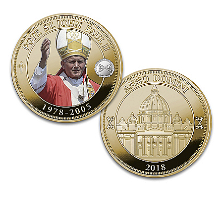 Papal Legacy Commemorative 24K Gold Plated Proof Coin Collection and Display Box