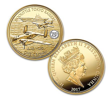 World War II 75th Anniversary 24K Gold Plated Coin Collection: 1 of 1942