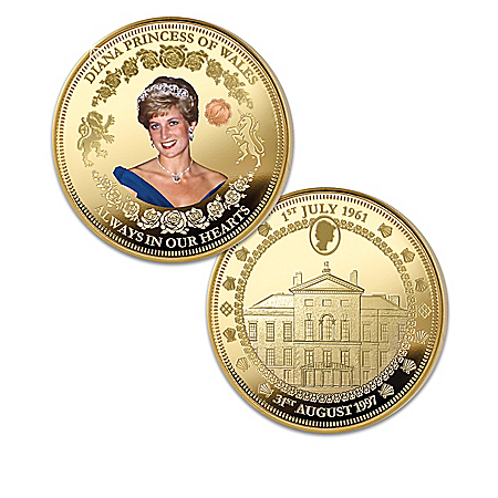 The Princess Diana 20th Anniversary Legacy 24K Gold-Plated Proof Coin Collection 910752