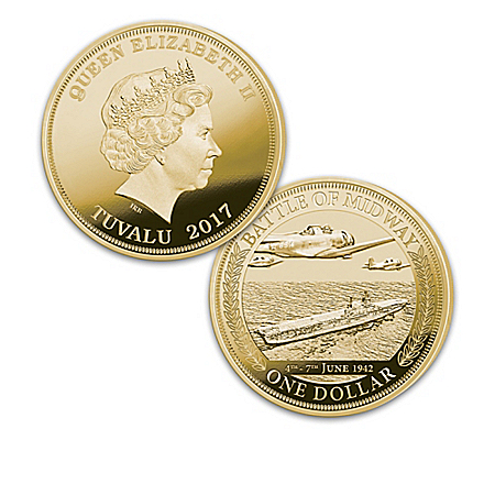 The World's Greatest Naval Battles 75th Anniversary Legal Tender Gold Dollar Coin Collection