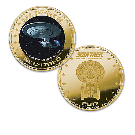 STAR TREK: The Next Generation 24K Gold-Plated Proof Coin Collection